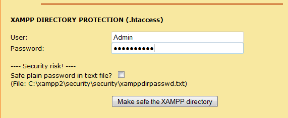 Xampp_Directory_security