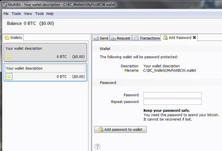 BitCoin_MultiBit_AddPassword