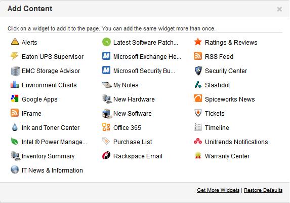 Spiceworks_Dashboard_addcontent