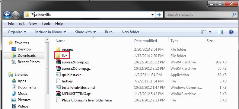 CloneZillalive_extract