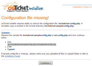 osTicket_ConfigFile_Missing