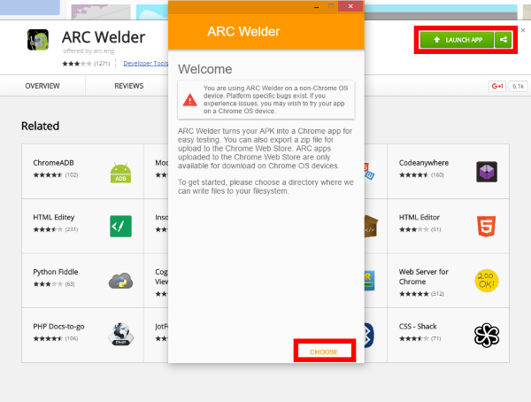 Screenshot of arc welder getting installed.