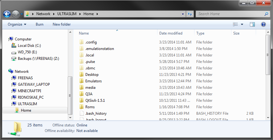 SharedFolder_Windows7_SambaPi