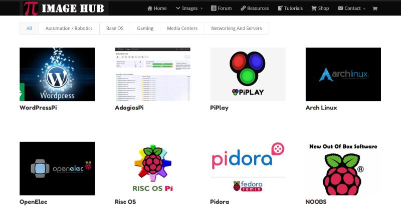Pi-Image-Hub-Find-Raspberry-Pi-Images