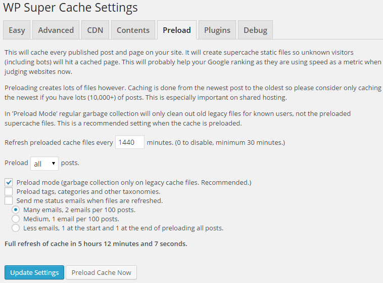 WP_Super_Cache_Preload
