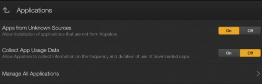 Kindle Fire: Enable apps from unknown sources