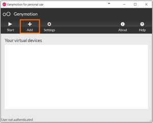 Add new device in gennymotion software