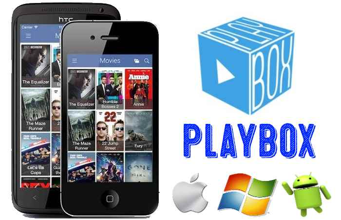 Playbox app for Android, iOS & Windows