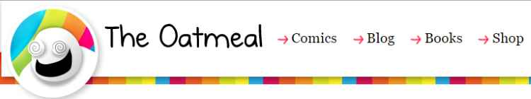 TheOatmeal.com header screenshot