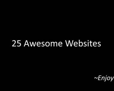 25 cool websites